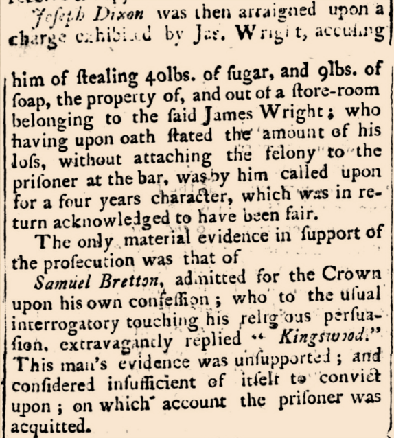 """COURT OF CRIMINAL JURISDICTION. FRIDAY, FEB. 22."" The Sydney Gazette and New South Wales Advertiser, Sunday 24 February 1805 p.3"