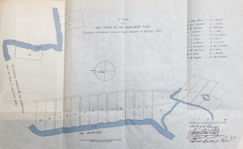 Alt's plan of the first farms on the Hawkesbury River (enclosure to Lieutenant-Governor Grose's dispatch of 29 April 1794) Photo: David Morgan (September 2016)