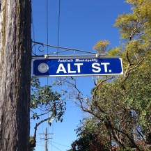 Sign for Alt Street, Haberfield. Photo: David Morgan (August 2016)