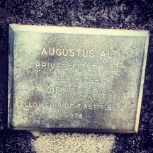 Augustus Alt's First Fleeter Memorial Plaque. Photo: Michaela Ann Cameron (2013)