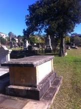The grave of Augustus Alt, Section 1, Row J, No. 1, St. John's Cemetery, Parramatta. Photo: Michaela Ann Cameron (July, 2016)