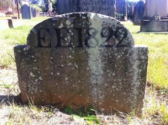 Edward Elliott's footstone at St. John's Cemetery, Parramatta. Photo: Michaela Ann Cameron (2016)