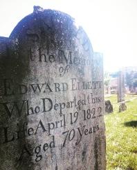 First Fleeter Edward Elliott's grave in Section 1, Row R, No. 2 at St. John's Cemetery, Parramatta. Photo: Michaela Ann Cameron (2016)