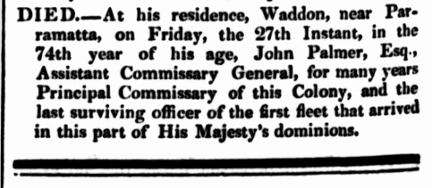 """Family Notices,"" The Sydney Herald, Monday 30 September 1833, p.4"