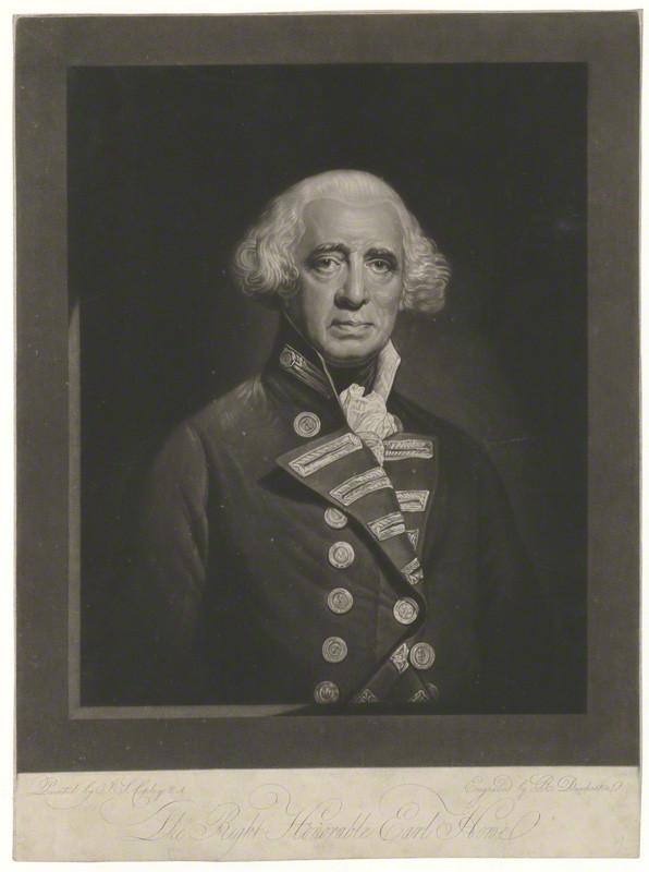 NPG D36352; Richard Howe, 1st Earl Howe by Robert Dunkarton, after  John Singleton Copley