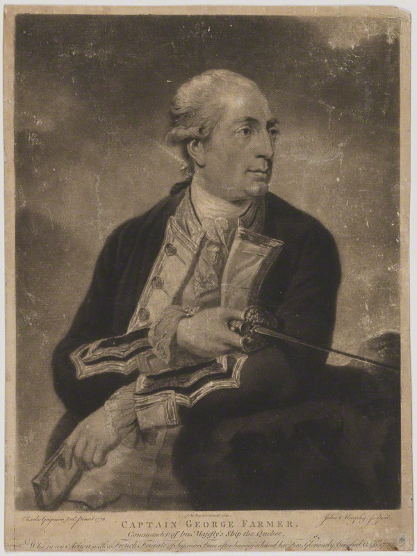 NPG D36652; George Farmer by John Murphy, published by  John Boydell, after  Charles Grignion