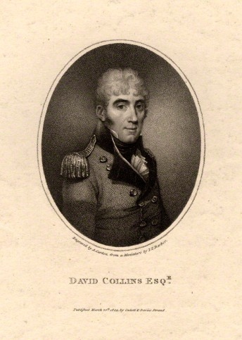 NPG D2097; David Collins by Anthony Cardon, after  John Thomas Barber Beaumont (John Thomas Barber)