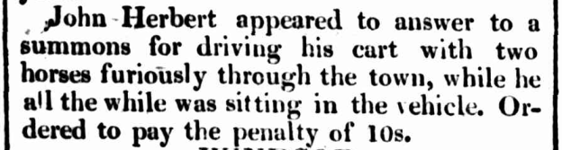 """Police Reports: Parramatta,"" The Sydney Gazette and New South Wales Advertiser, Saturday 24 February 1827, p.3"