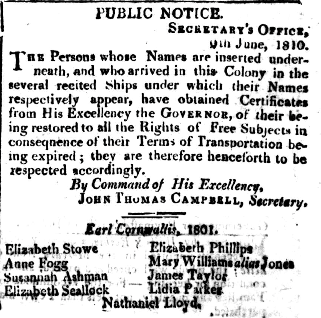 Public Notice of Emancipation - Lydia Parker