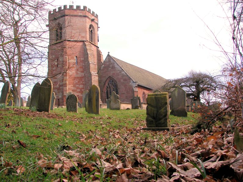 St. Luke's Church, a Norman structure, was built c.1083 on the site of an earlier wooden chapel which had previously served the village. In the fourteenth century the church was extended and restored with a distinctive octagonal tower added. Photo credit: Geoff Potter, Hodnet, www.hodnet.org.uk