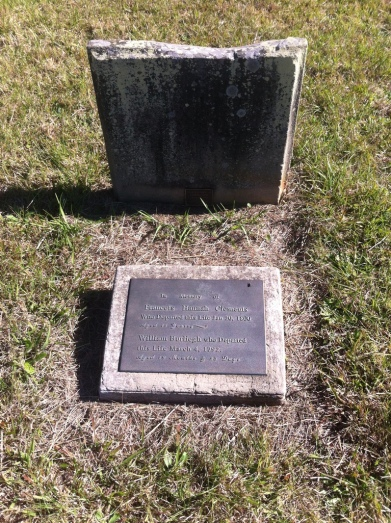 The grave of Frances Hannah Clements and her half-brother William Burleigh Arndell, Section 4, Row I, No.1, St. John's Cemetery, Parramatta. Photo: Michaela Ann Cameron (July, 2016)