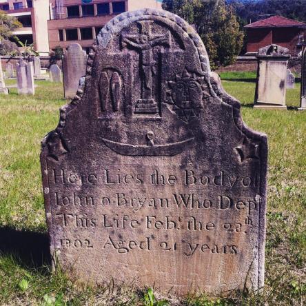 John O'Bryan's headstone, St. John's Cemetery Parramatta.