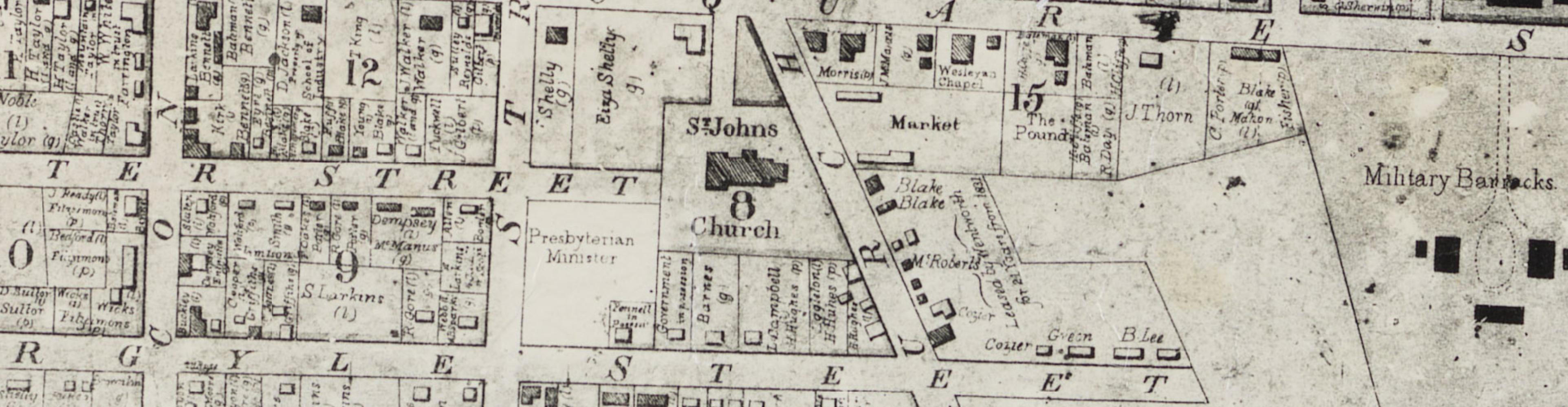 First Fleet convict Hugh Hughes's allotment, Parramatta. Old Parramatta.