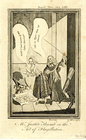 Sir Francis Buller, Judge Thumb, Justice Thumb, Act of Flagellation, 1782, Rambling Magazine, Rule of Thumb