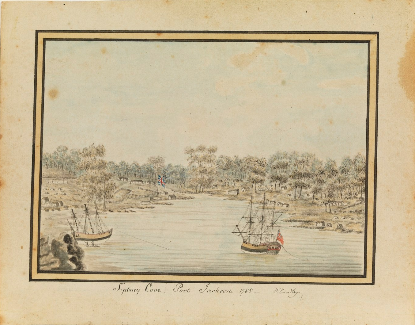 William Bradley, Sydney Cove, Port Jackson, 1788, First Fleet, A Voyage to New South Wales Journal.