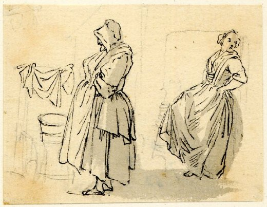 Washerwomen, Washerwoman, Laundress, Laundry, Eighteenth-Century, Britain, Paul Sandby