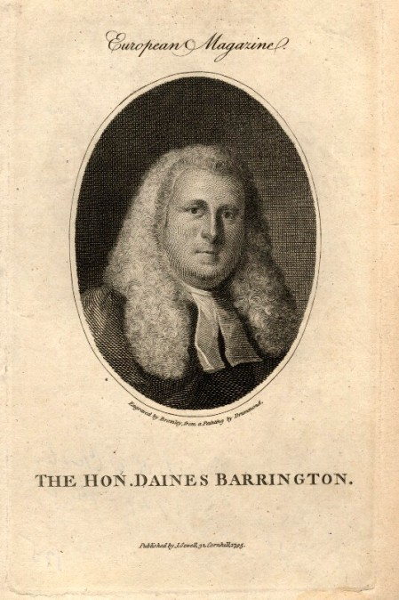 The Hon. Daines Barrington, portrait by William Bromley after Samuel Drummond, 1795