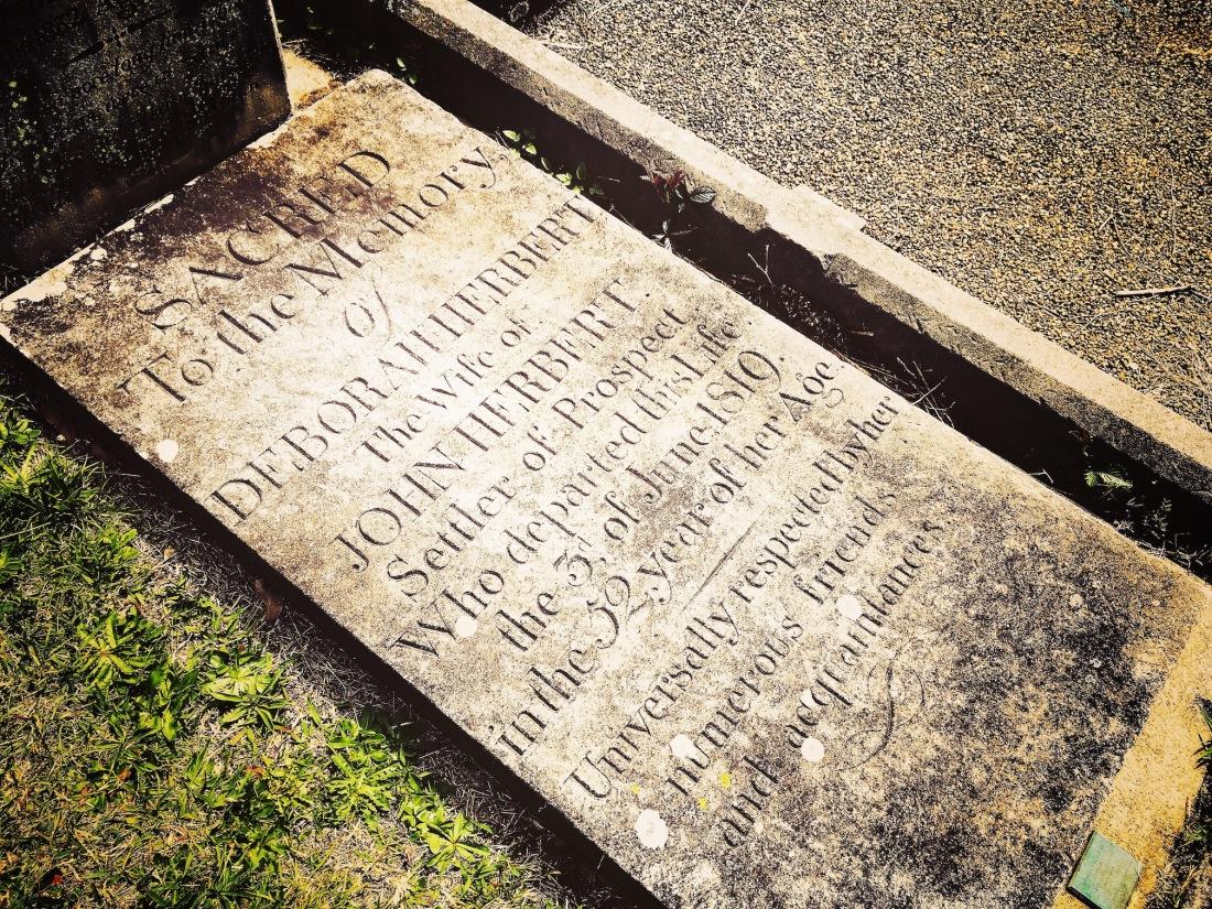 Deborah Herbert, Deborah Ellam, Debby Ellom, First Fleet, convict, St. John's Cemetery, Parramatta. Old Parramatta. Old Parramattan. St John's Cemetery Project. St John's First Fleeters