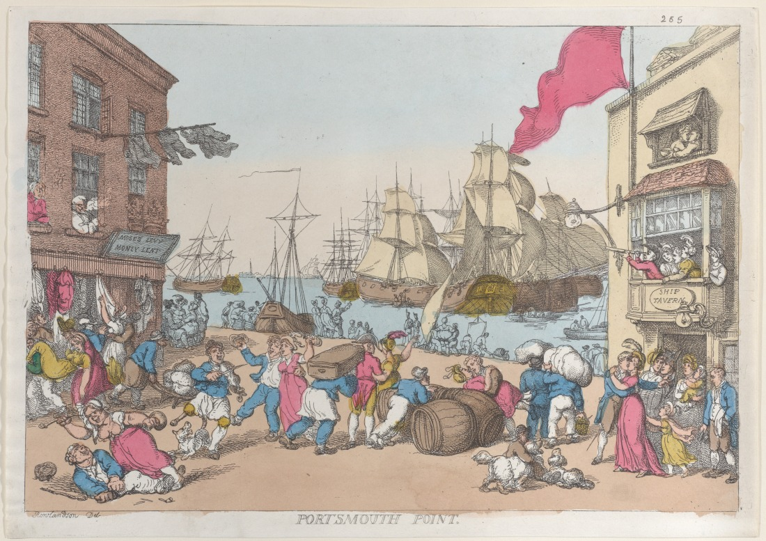 Thomas Rowlandson, Portsmouth Point, 1814, Satire, St. John's Cemetery Project, Old Parramattan