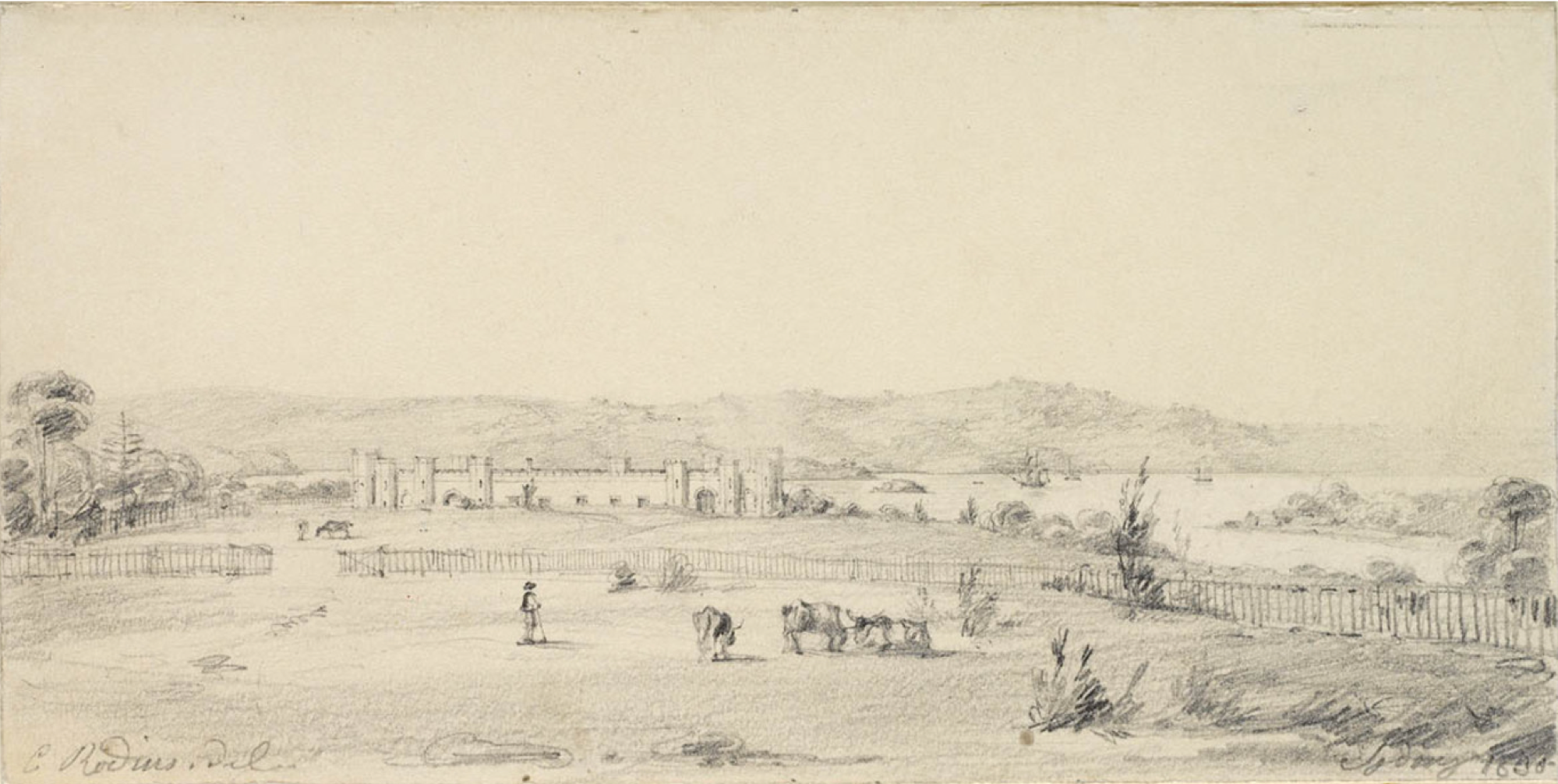 Government House, Sydney, 1830, Charles Rodius, St. John's Cemetery Project, Old Parramattans.