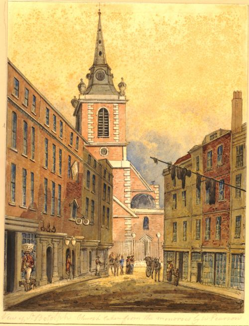 St. Botolph Aldgate Church, St. Botolph's without Aldgate and Holy Trinity Minories, Aldgate Church, Houndsditch, Aldgate High Street, London, England, William Pearson, George Dance the Elder, St. John's Cemetery Project, Old Parramattans