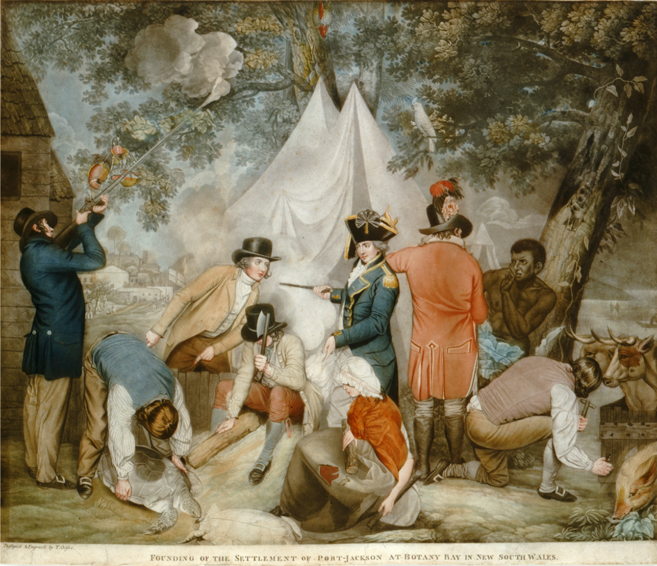 First Fleet, Thomas Gosse, The Founding of the Settlement at Port-Jackson at Botany Bay in New South Wales (1799), St. John's Cemetery Project, St. John's First Fleeters, Old Parramattans