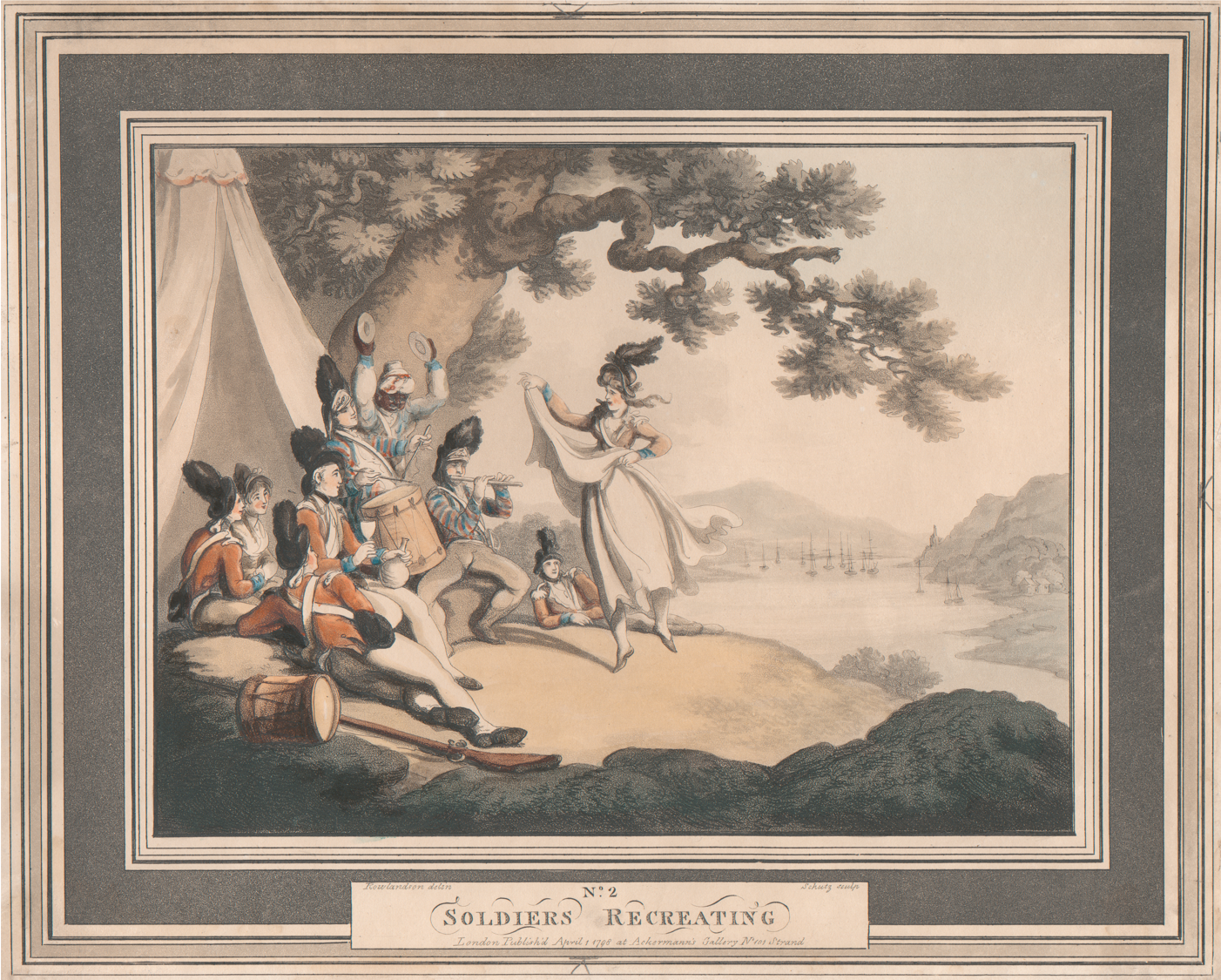 Heinrich Joseph Schutz, Thomas Rowlandson, Soldiers Recreating, British Army, Military Wives, Women, Recreation, St. John's Cemetery Project, Old Parramattans, St. John's First Fleeters, First Fleet, Ann Smith