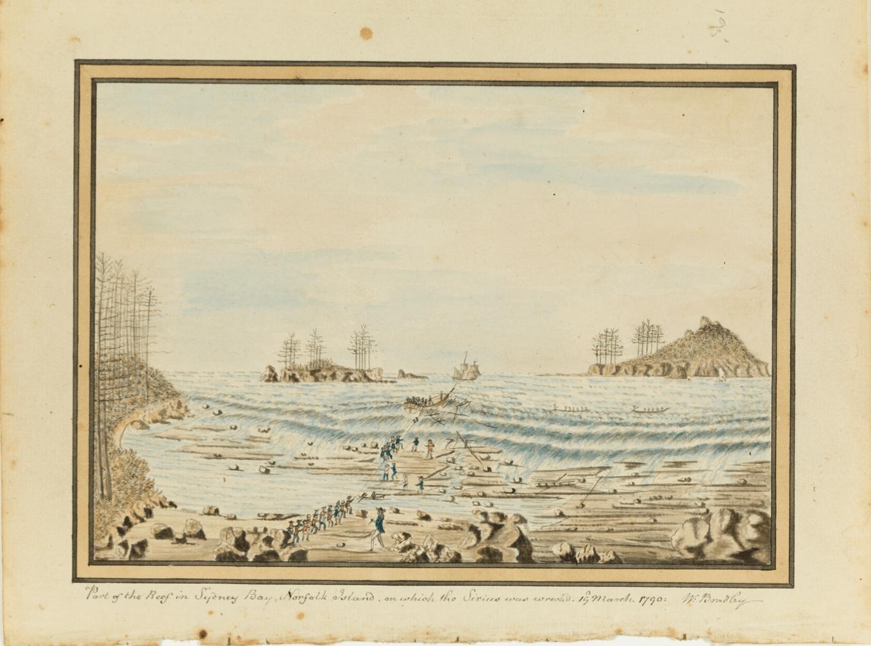 William Bradley, Sydney Bay, Norfolk Island, First Fleet, Sirius wreck, 1790, St. John's Cemetery Project, St. John's First Fleeters, Old Parramattans, Ann Smith