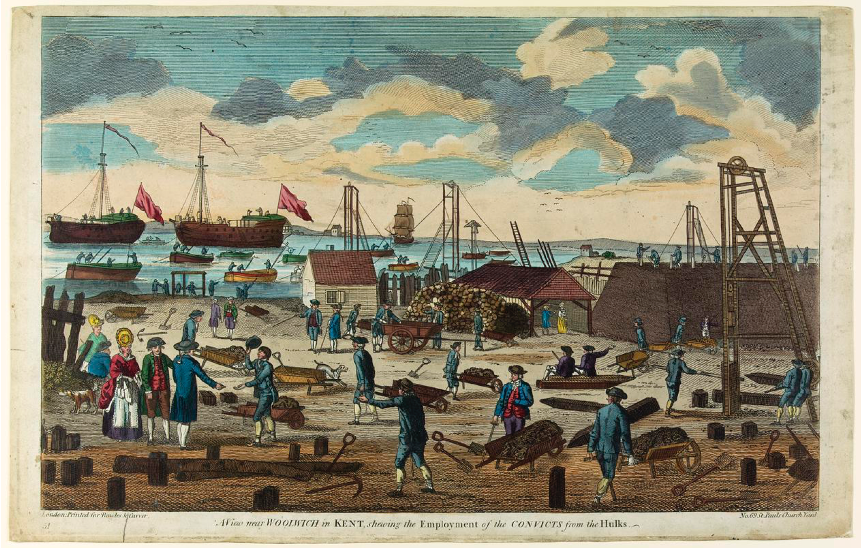 Prison Hulk, Convicts, working, labourers, prisoners, The Warren, The Thames, Woolwich, Kent, England, Hulks, St. John's Cemetery Project, Old Parramatta, Benjamin Ratty, James Ratty