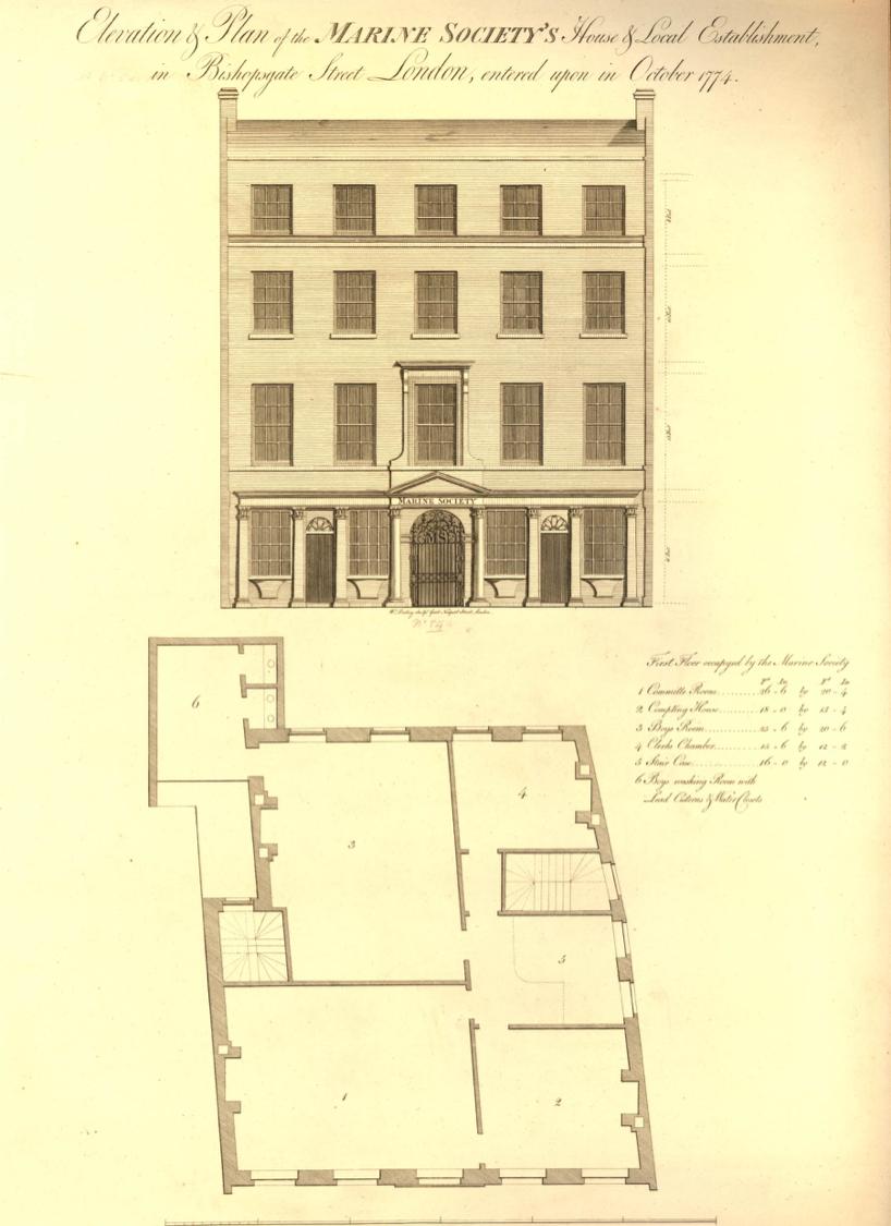 Marine Society, Marine Society Office, Bishopsgate Street, London, St. John's Cemetery Project, Old Parramattans, Benjamin Ratty, Convict Constable