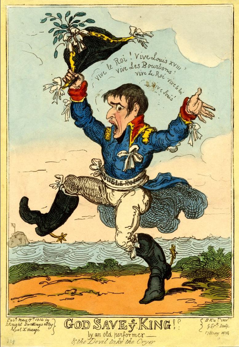 Napoleon Bonaparte, Exile, Elba, Satire, May 1814, George Cruikshank