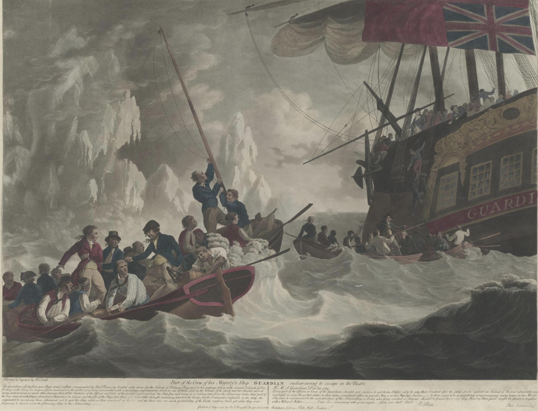 Robert Dodd, Crew of Guadian (1790) Escaping, Second Fleet, Storeship, St. John's Cemetery Project, Old Parramattans