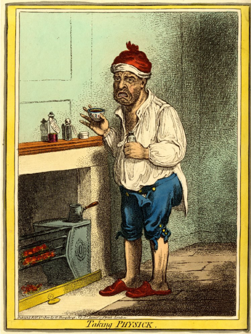 James Gillray, Taking Physick, Eighteenth-Century Medicine, Nineteenth-Century Medicine, Medical History, Satirical Sketch, St. John's Cemetery Project, Old Parramattans, John Irving