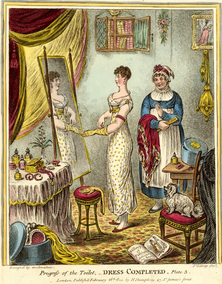 James Gillray, Lady's Maid, Lady's Servant, Nineteenth Century, Georgian Fashion, Sarah Moses: Tell the World I Died for Love, St. John's Cemetery Project, St. John's Cemetery Parramatta