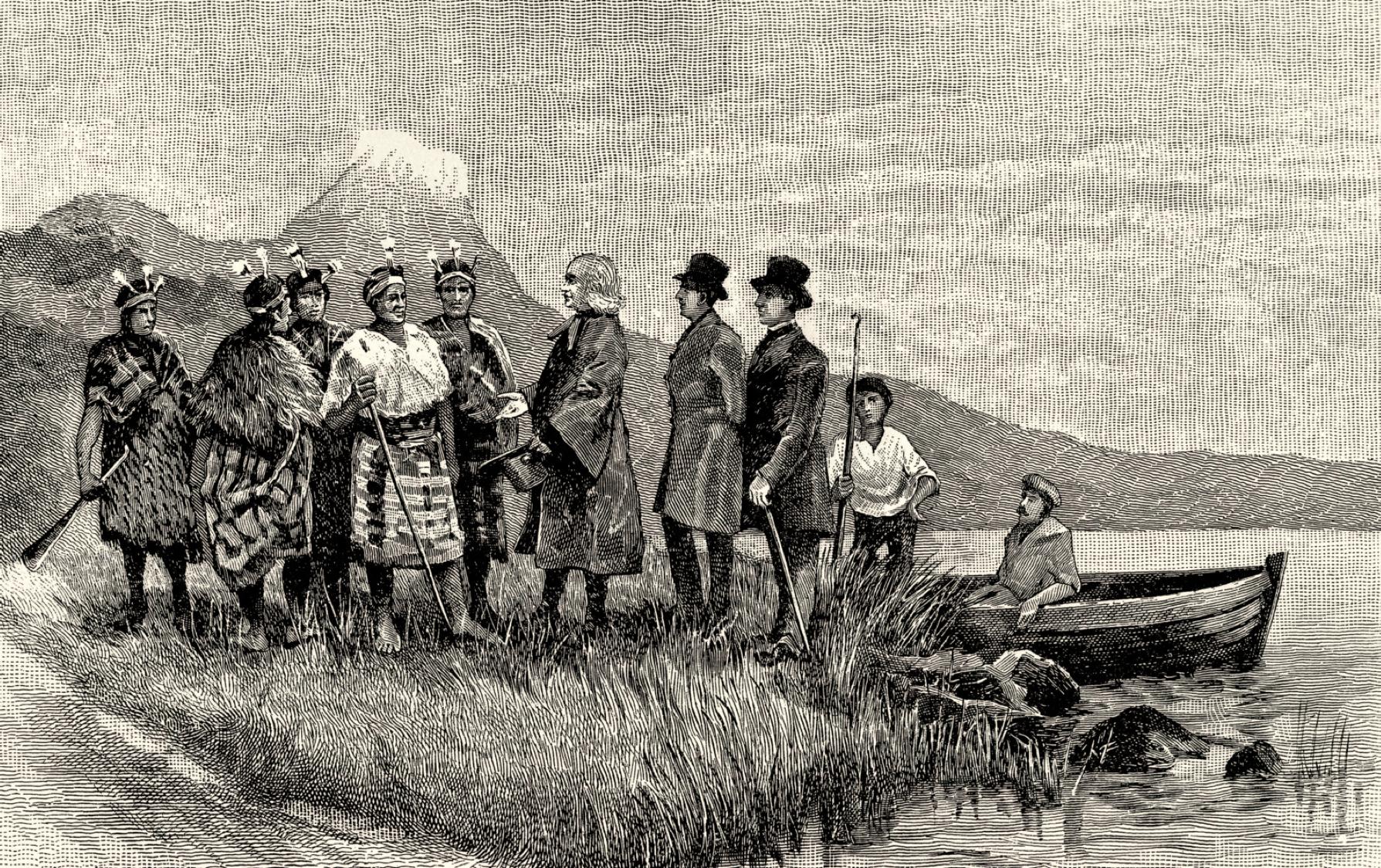 Reverend Samuel Marsden Landing, Bay of Islands, 1814. Ipipiri, Landing, Whangaroa, Aotearoa, New Zealand, missionary, Christianity, St. John's Cemetery Project, Old Parramattans