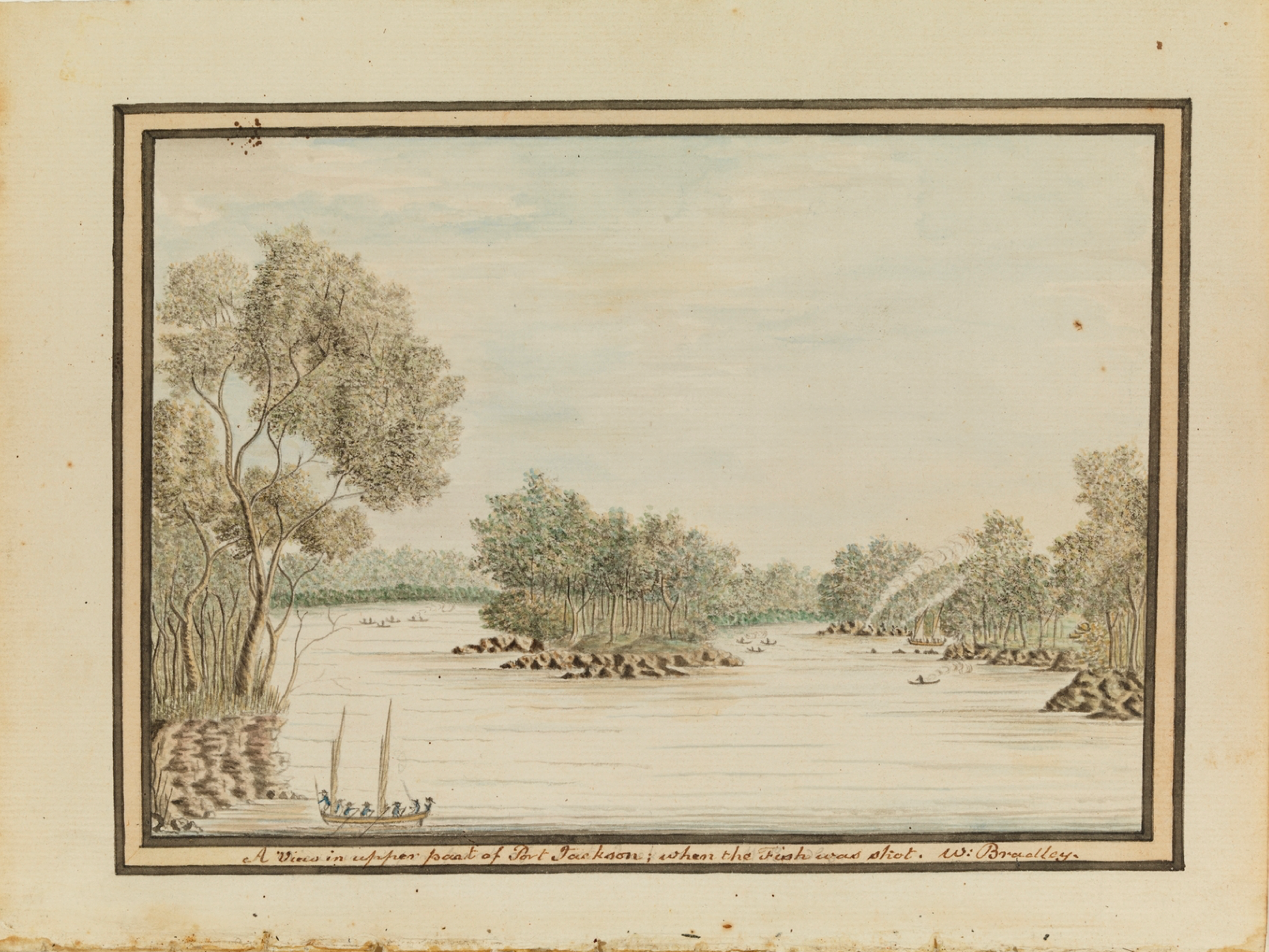 William Bradley, A View in Upper Part of Port Jackson, A Voyage to New South Wales, Journal, Sydney