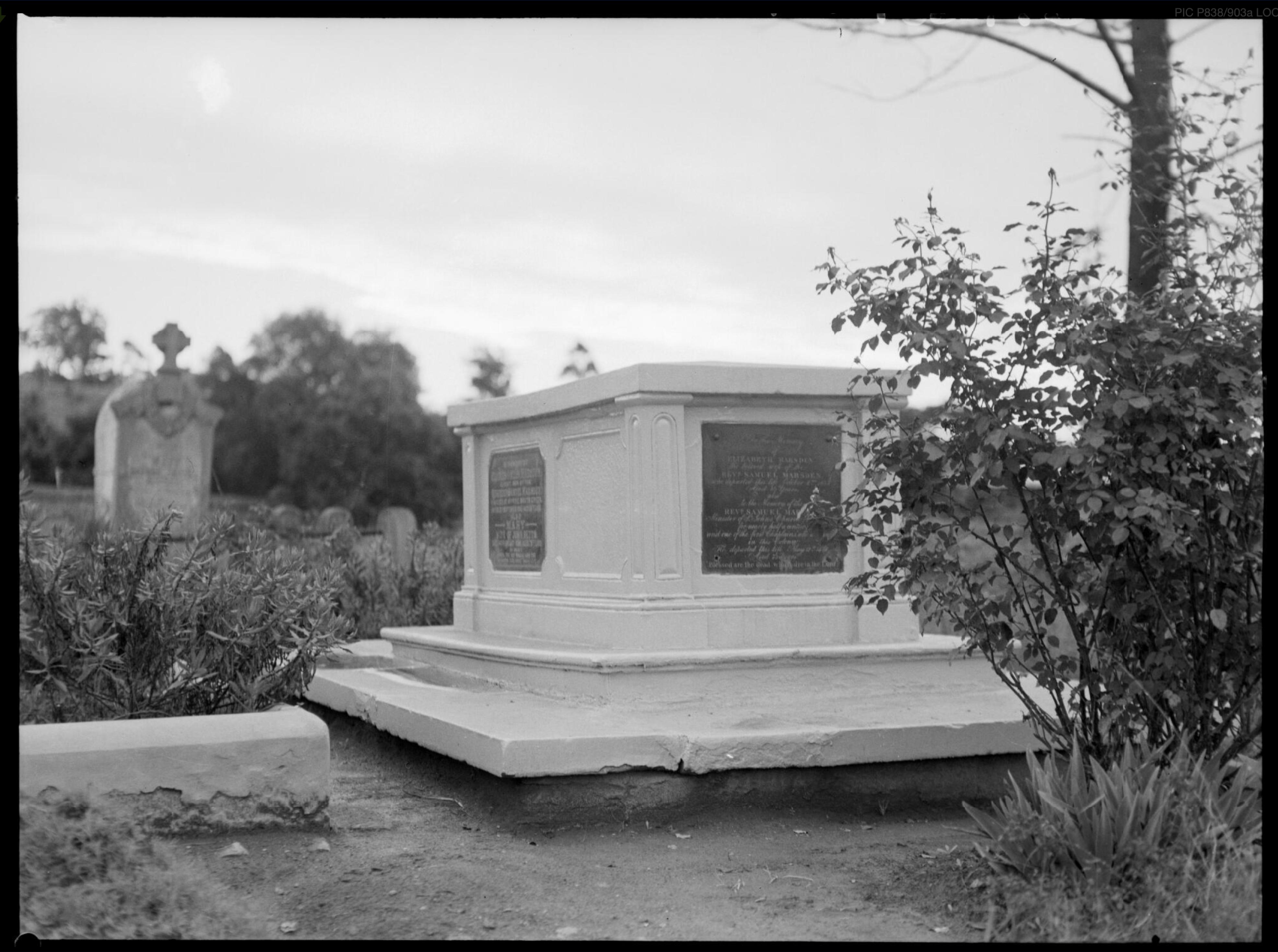 Reverend Samuel Marsden, grave, St. John's Cemetery, Parramatta, The Flogging Parson, Matthew Allen, Myth of the Flogging Parson, St. John's Cemetery Project, Old Parramattans