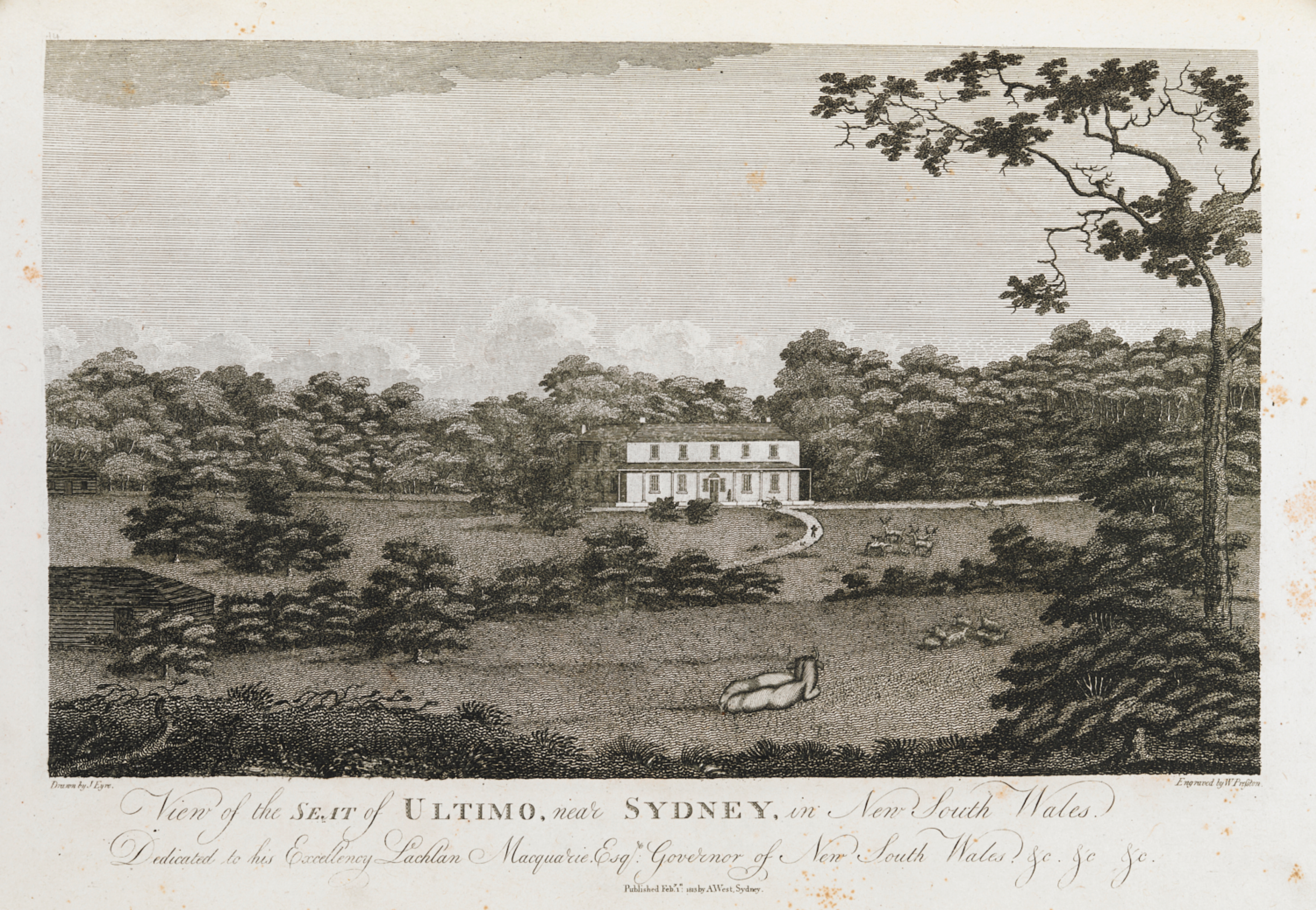 Surgeon John Harris, Ultimo Estate, John Eyre, View of the Seat of Ultimo, Sydney, University of Technology Sydney, St. John's Cemetery Project, Old Parramattans
