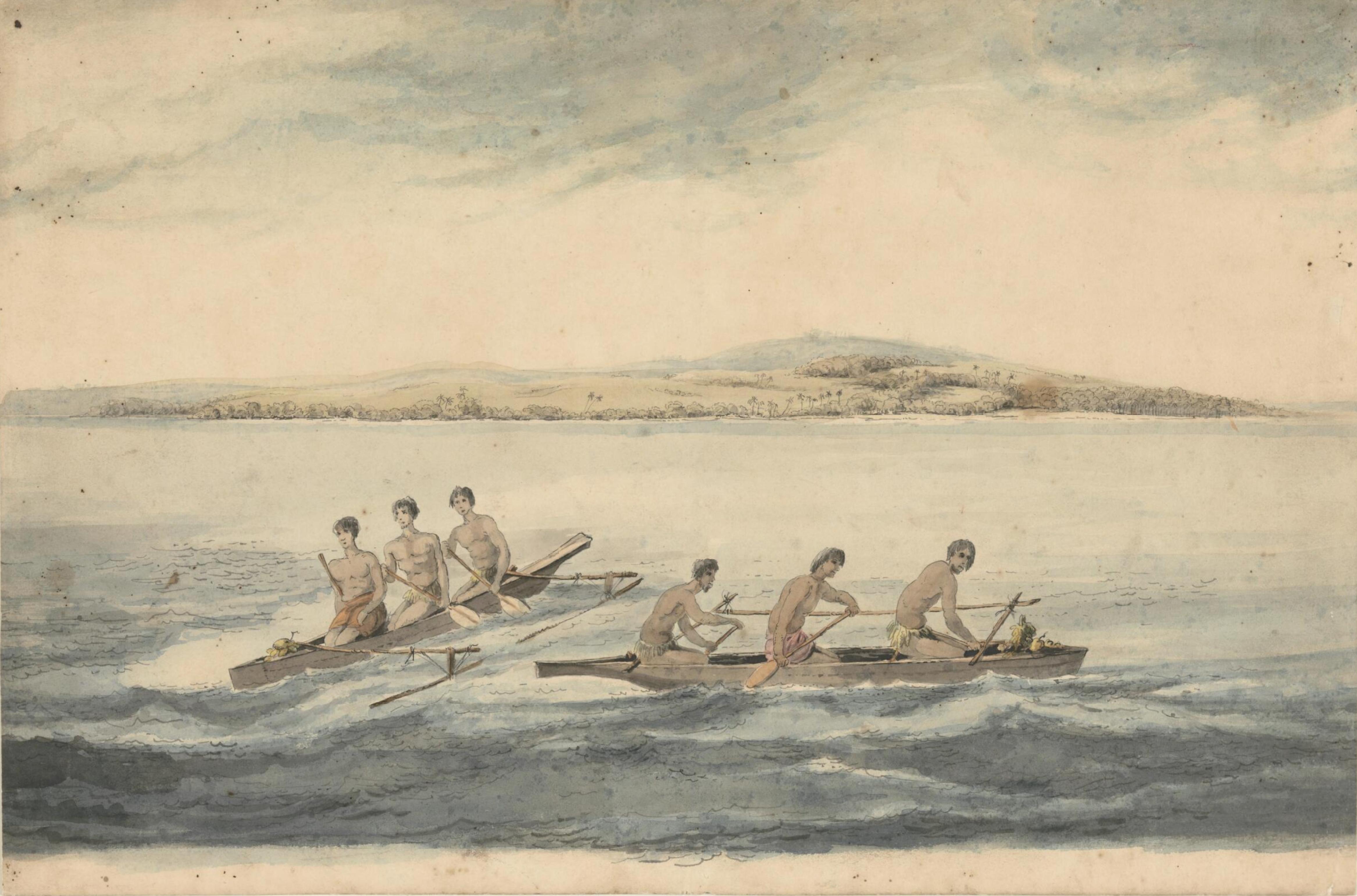 Canoes of the Friendly Islands, by John Webber