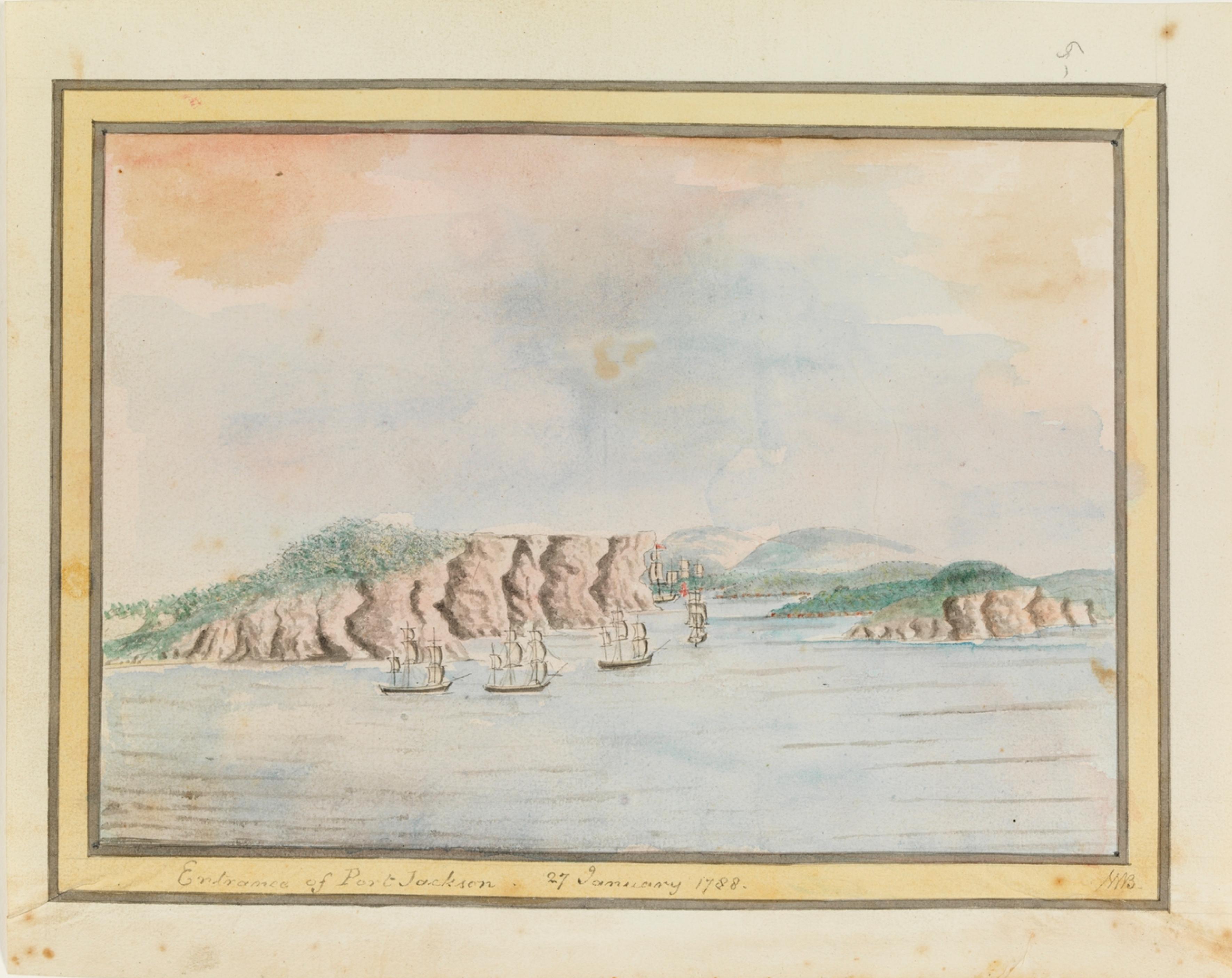 Entrance of Port Jackson, 27 January 1788