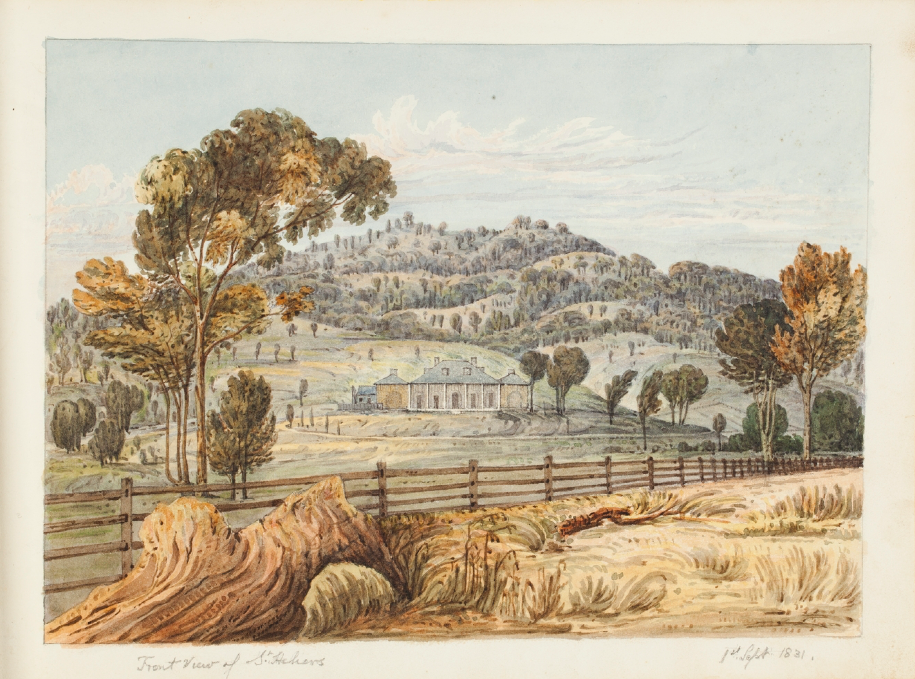 Front View of St Heliers, September 1831