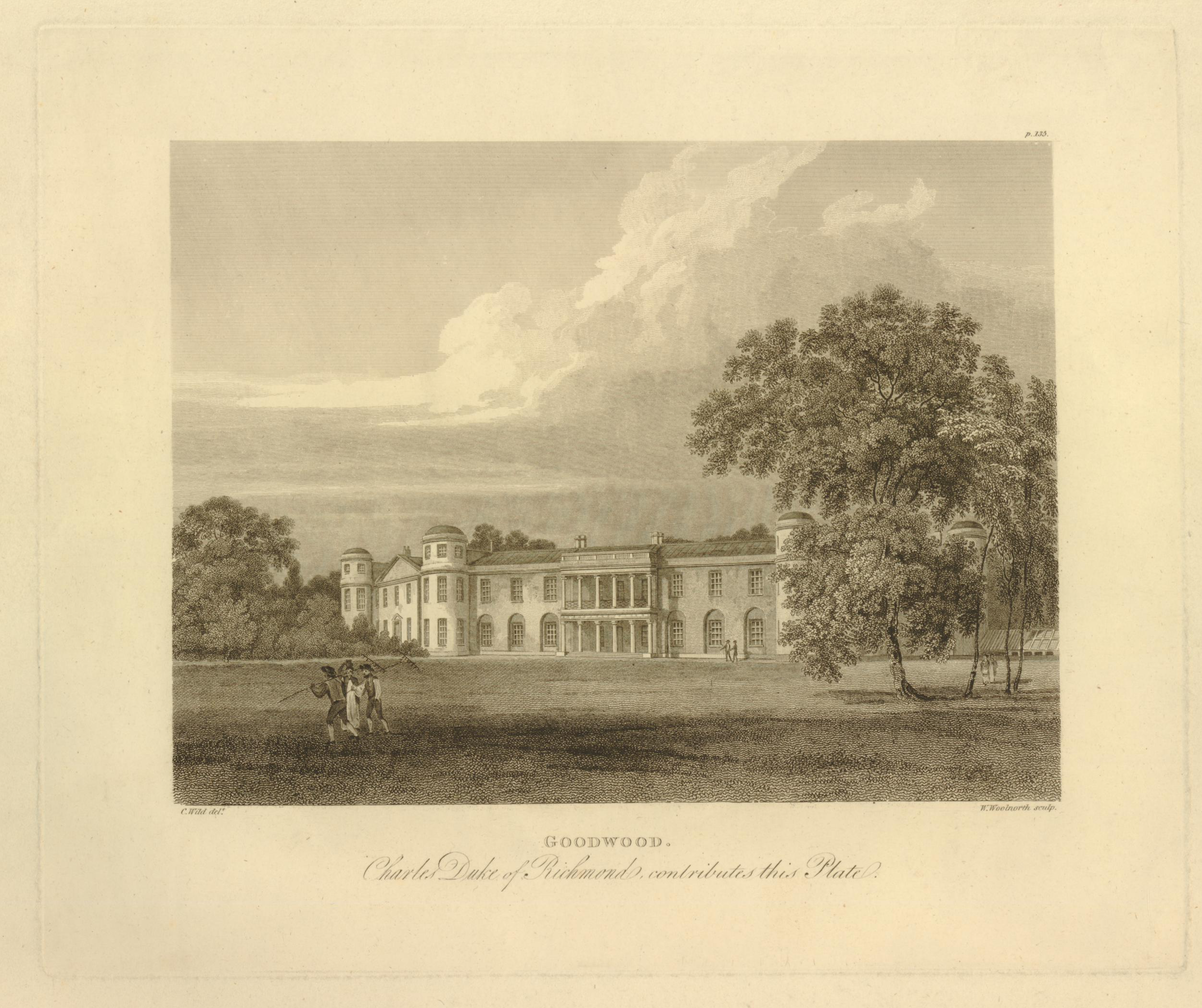 Goodwood House, Sussex, family seat of the Dukes of Richmond