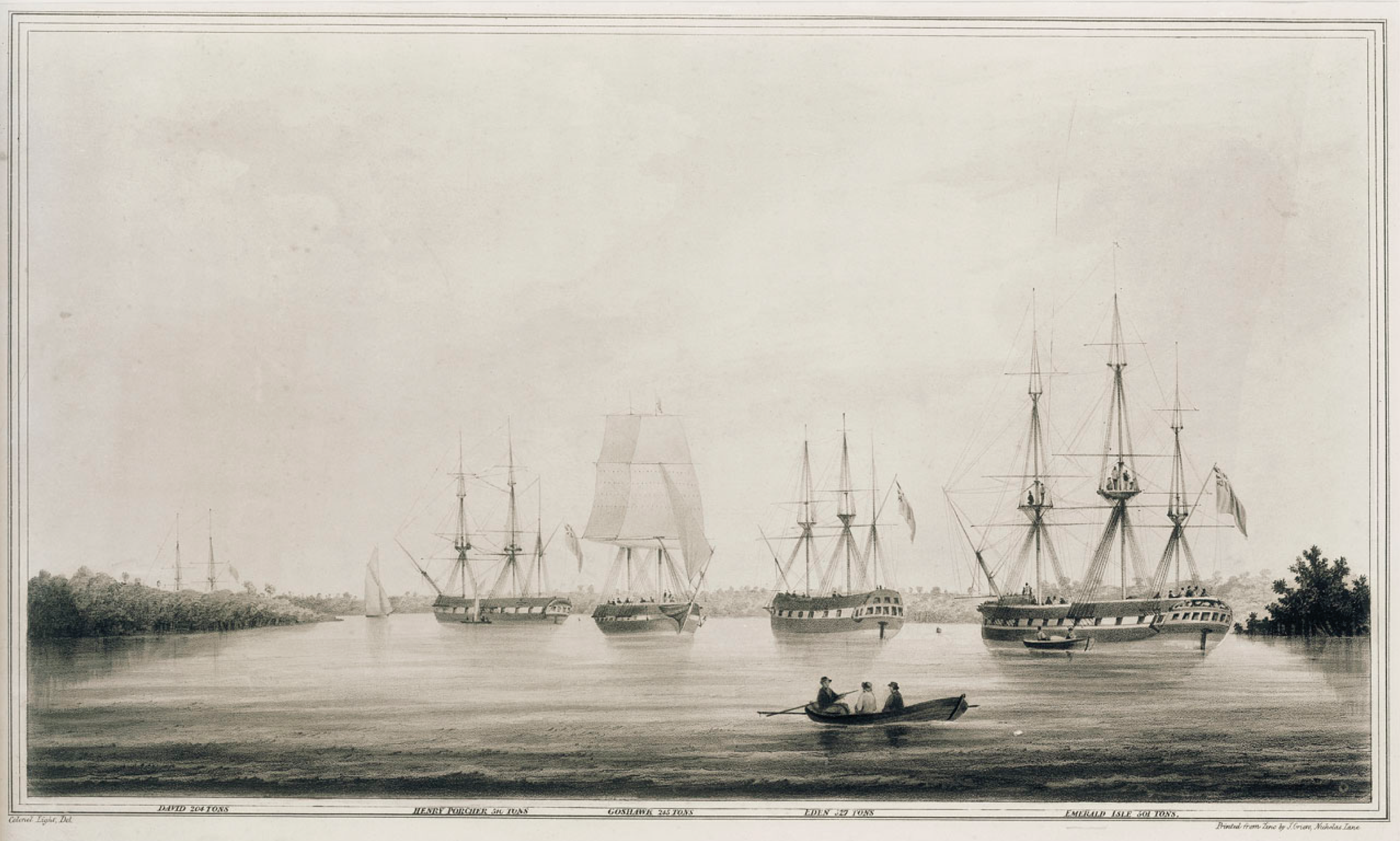 Henry Porcher, former convict ship, in Port Adelaide, South Australia