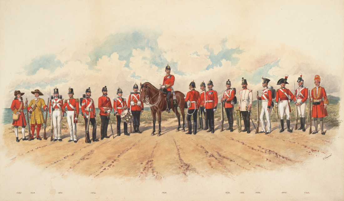 Royal Marines Uniforms from 1664 to 1896