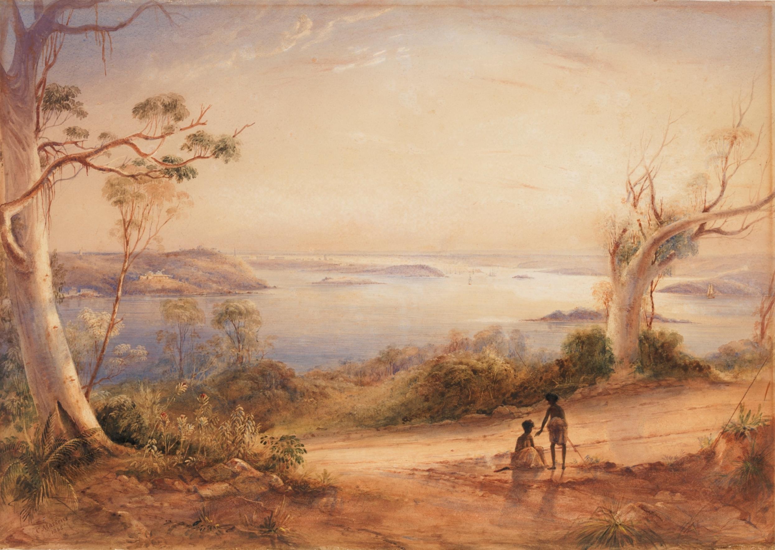 Sydney, 1835, by Conrad Martens