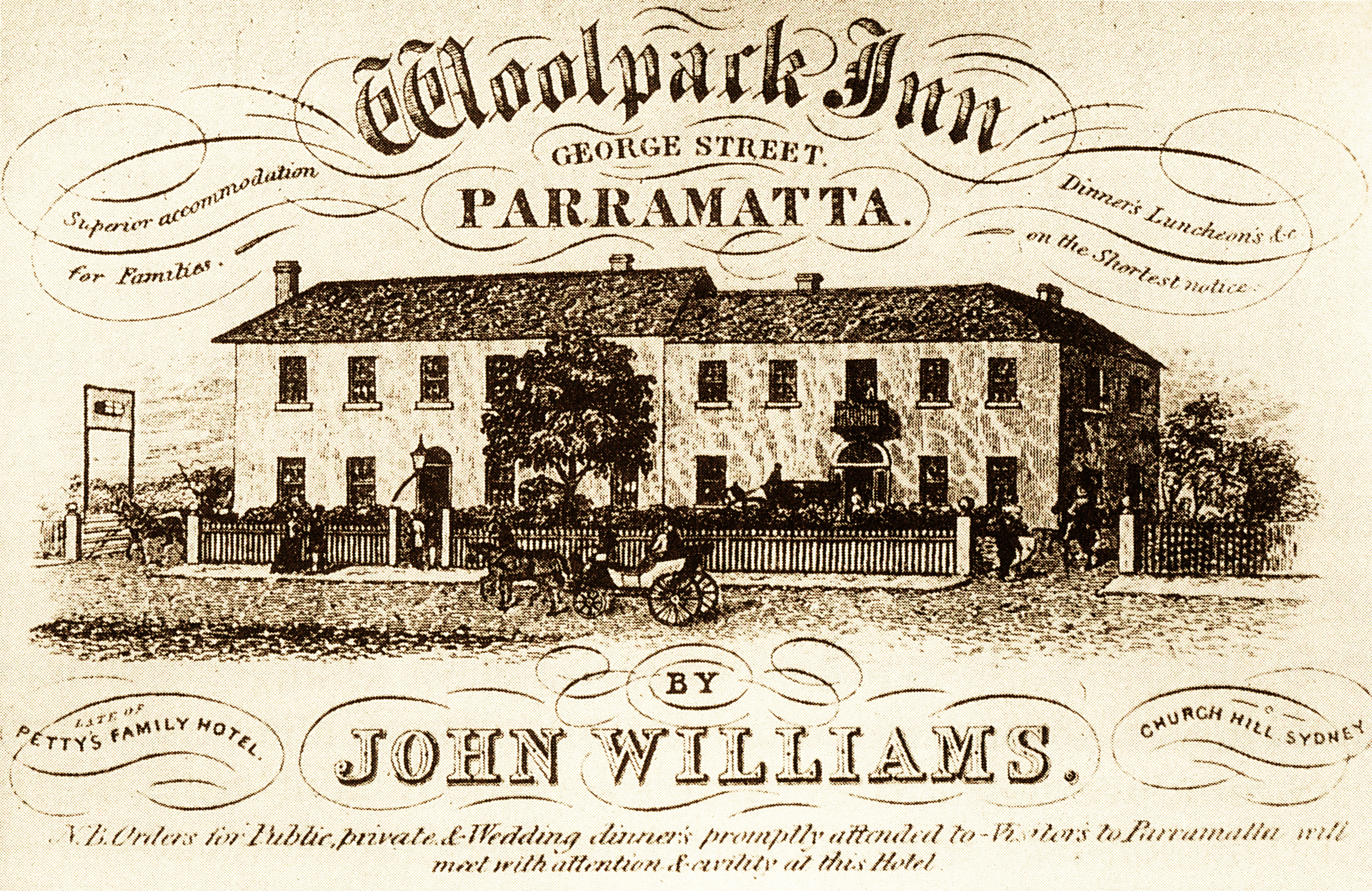Woolpack Inn Business Card