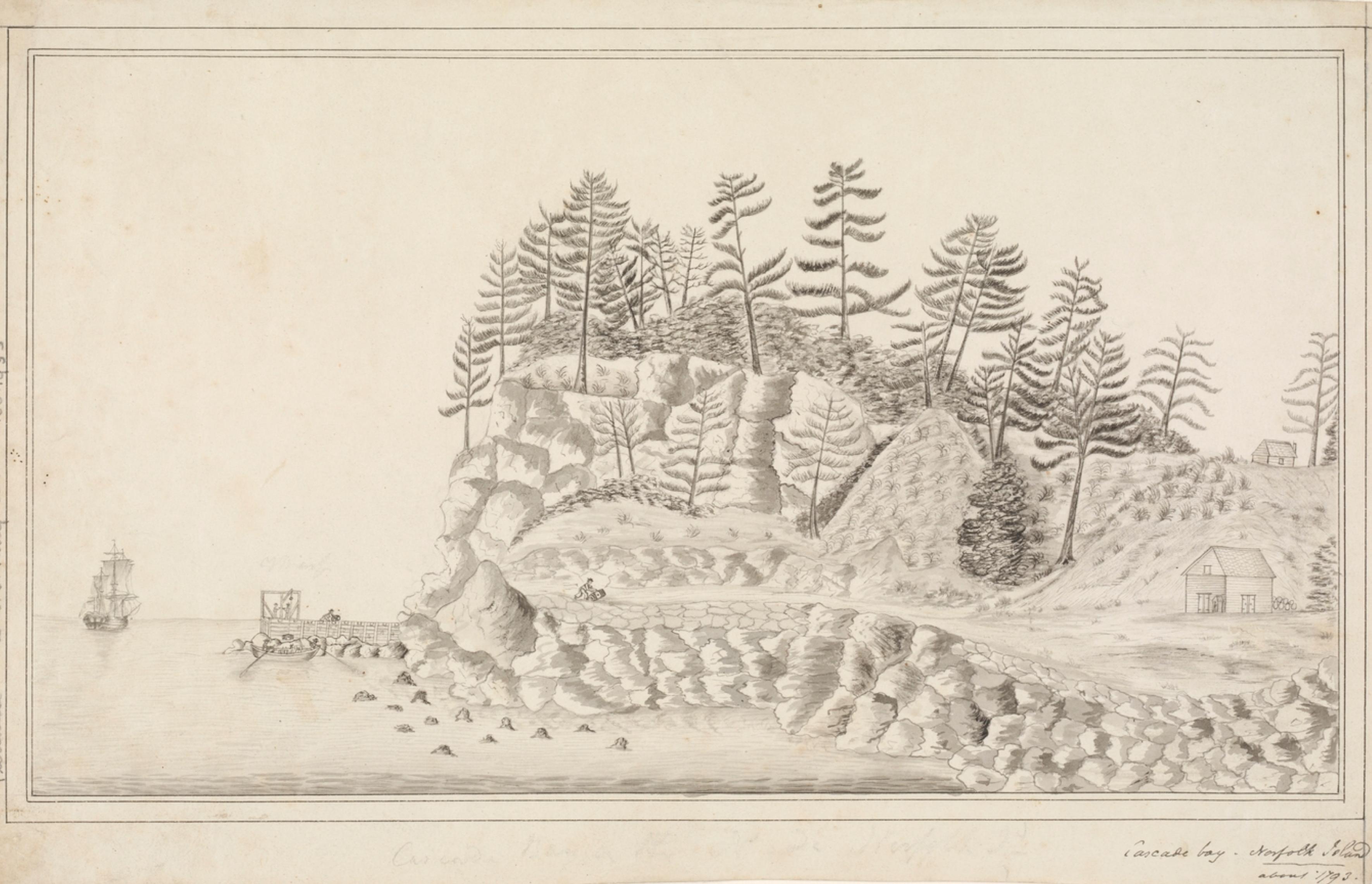 Cascade Bay - Norfolk Island, about 1793