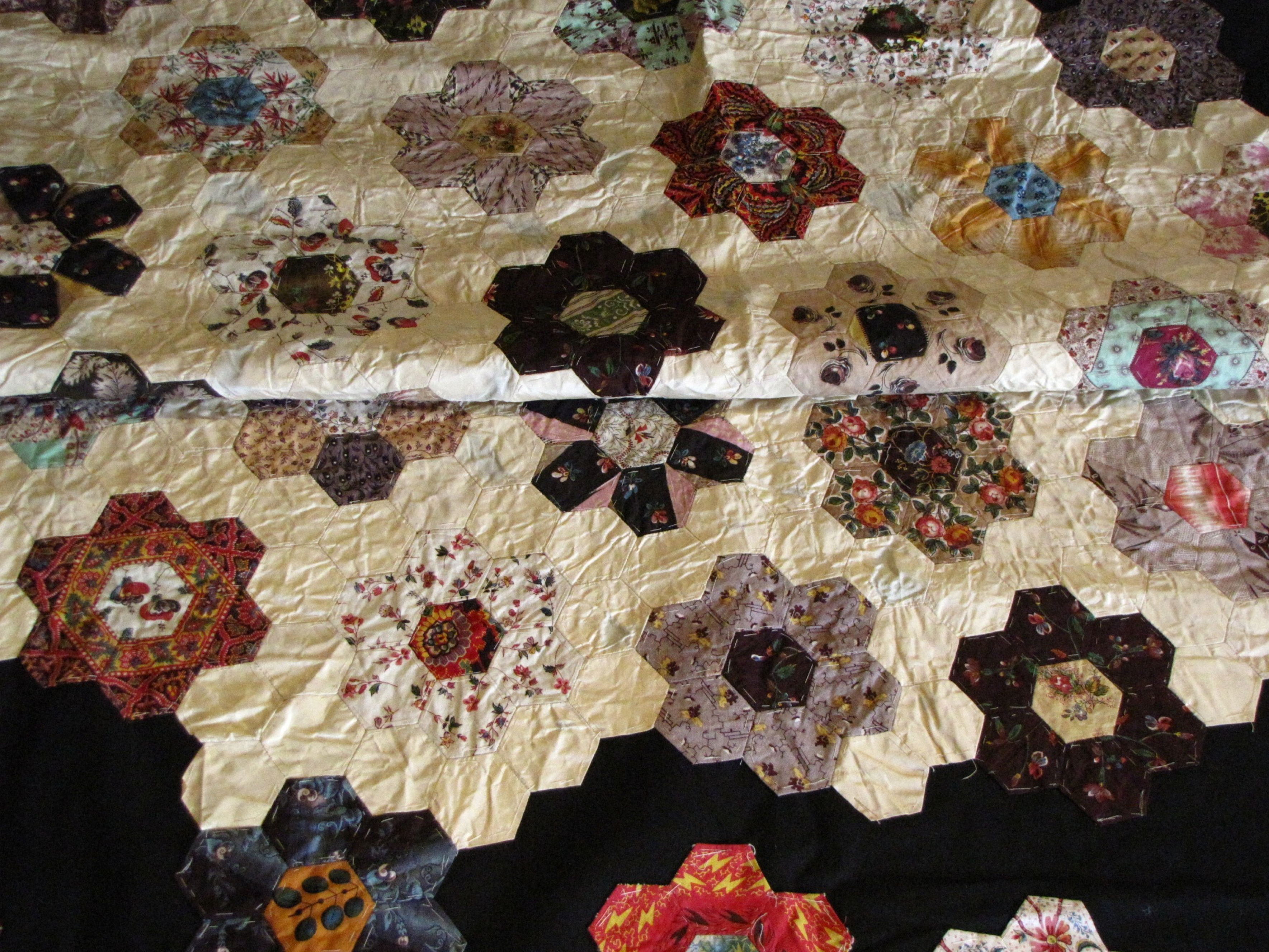 Lady FitzRoy's unfinished quilt [detail]