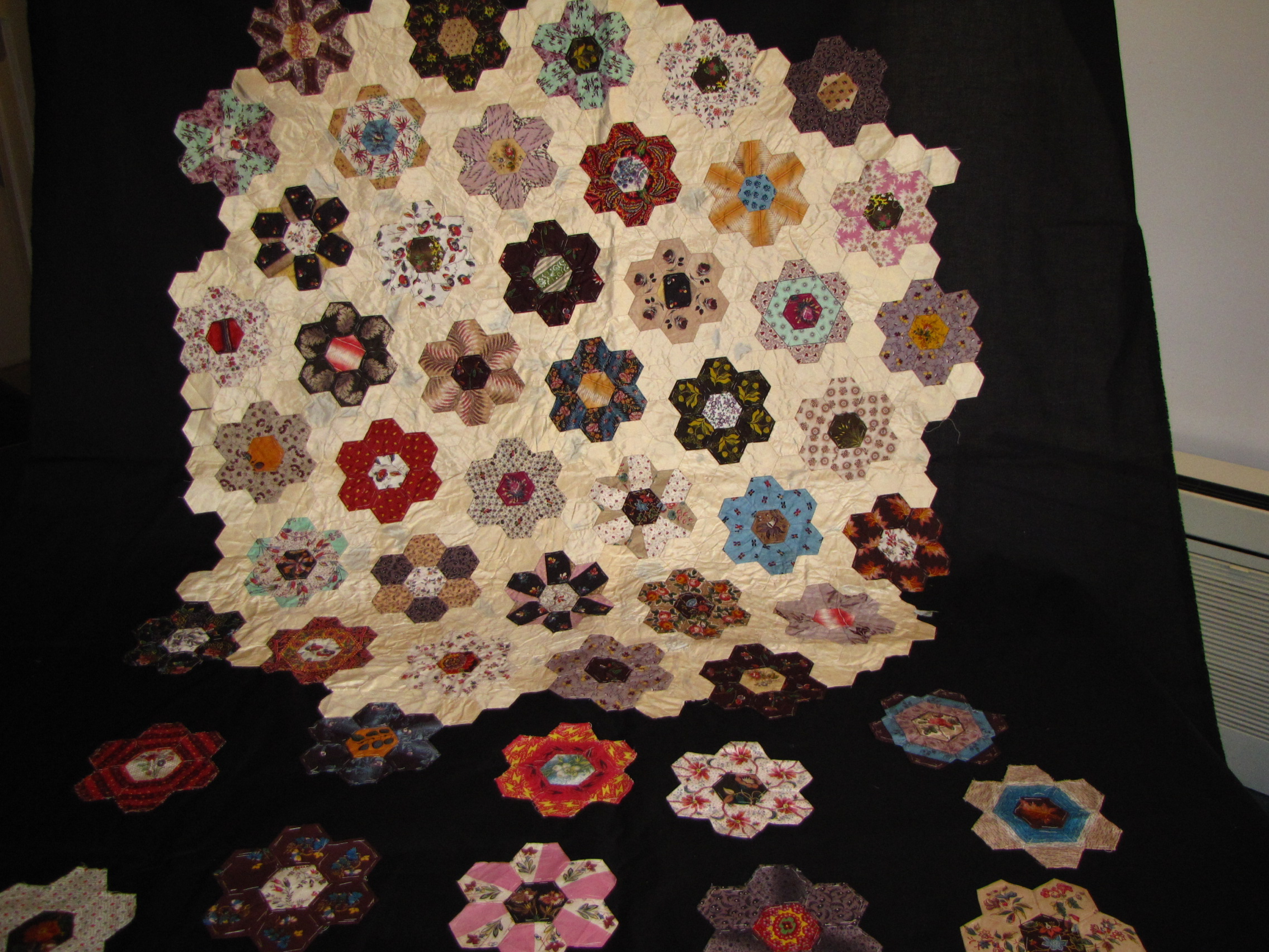 Lady FitzRoy's unfinished quilt
