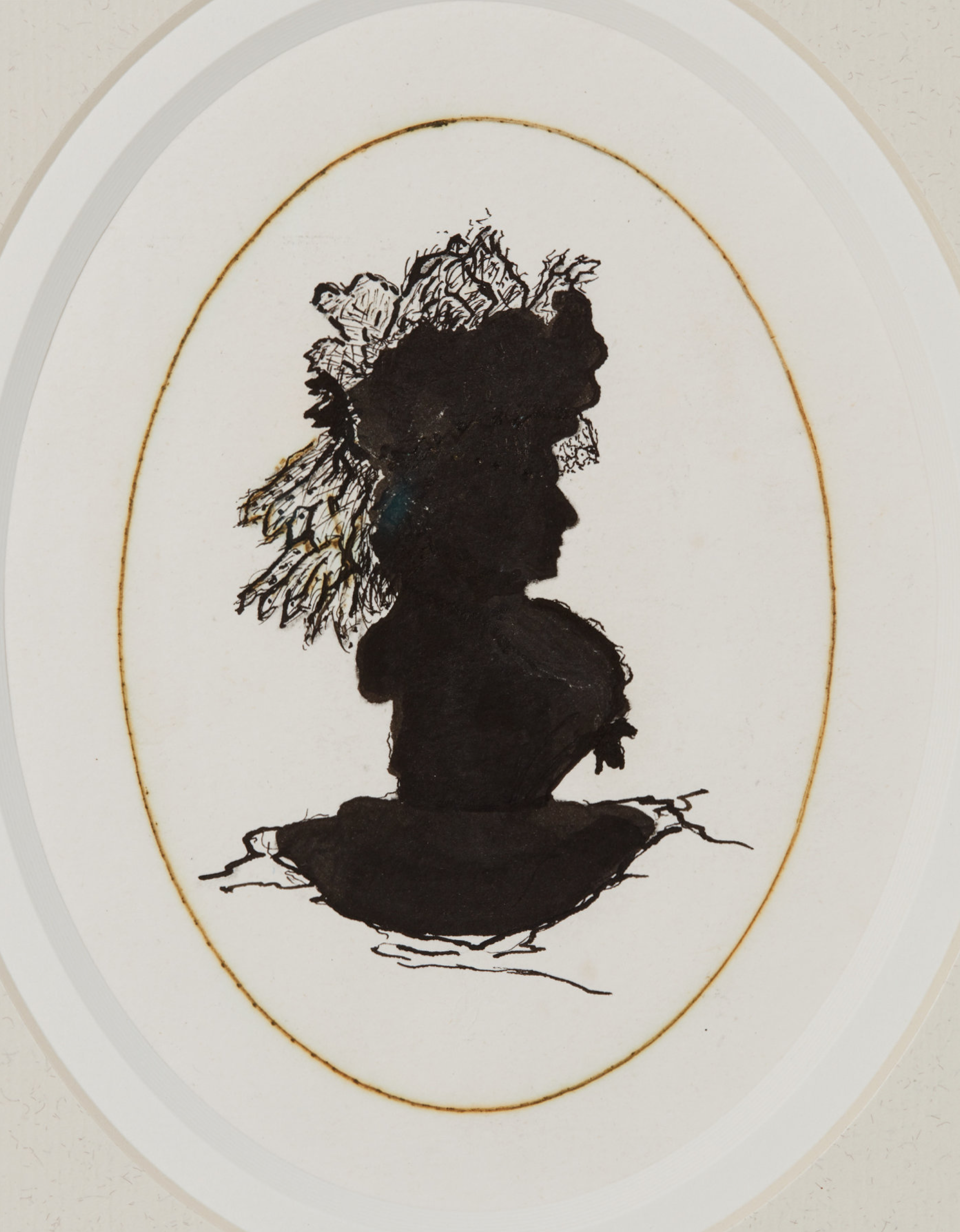 Silhouette believed to be Lady Mary FitzRoy